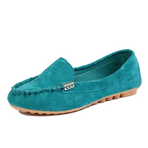 Hot Sale!Women Summer Spring Shoes,Todaies Women Flats Shoes Slip On Comfort Shoes Flat Shoes (US 9.5, Blue)