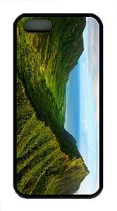 case retro cover green valles shore TPU Black Case for iphon 5/5S