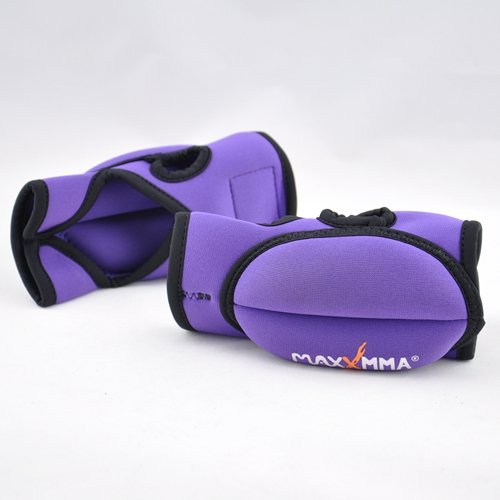 Weighted Gloves Set (MaxxMMA Weighted Sculpting Gloves - Open Finger, 0.75 lb. x 2 (Purple))