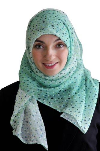Turkish Hijab Polka Dots (Blue)