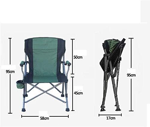 Klappstuhl Angeln Stuhl Tragbare Camping Hocker beweglichen im Freien mit Rückenlehne Camping Strand LITING (Color : A) C
