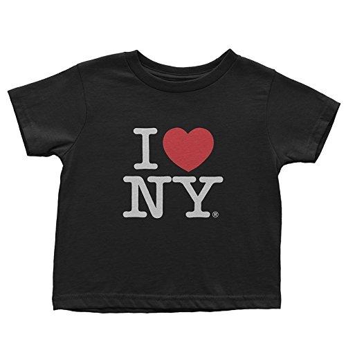 I Love NY New York Kids Short Sleeve Screen Print Heart T-Shirt Black Large (. (Ny Heart Tshirt I)
