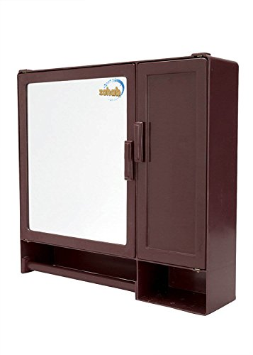 zahab Two Door Bathroom Cabinet -Action(Cherry)
