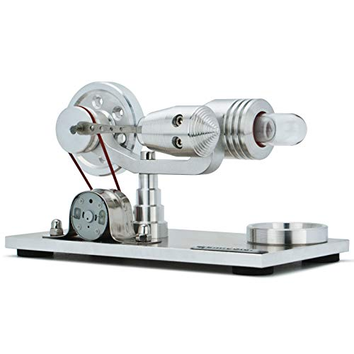 DjuiinoStar Hot Air Stirling Engine, Solid Metal Construction, Electricity Generator (DHA-BG-401)