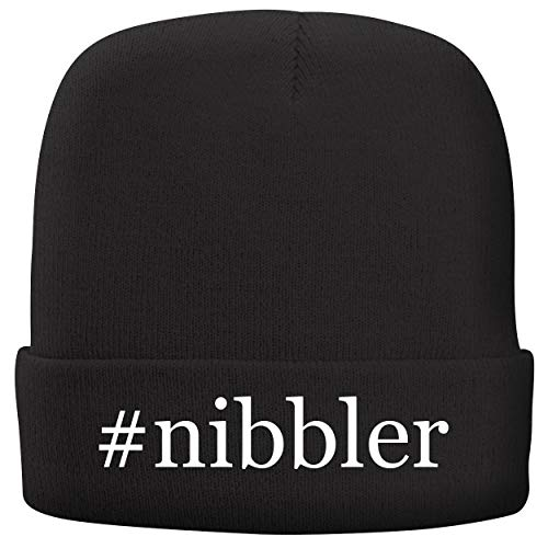 BH Cool Designs #Nibbler - Adult Hashtag Comfortable Fleece Lined Beanie, Black