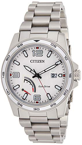 Citizen Mens Solar Powered Watch, Analog Display and Stainless Steel Strap AW7031-54A
