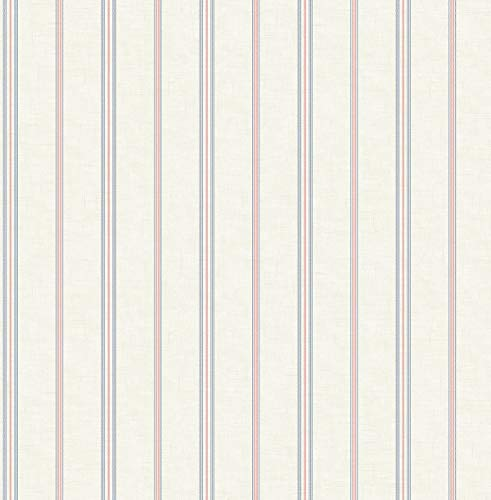 (French Stripe Wallpaper in Primary FL92202 from Wallquest)