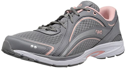 - Ryka Women's Sky Walking Shoe, Grey/Rose, 7 W US