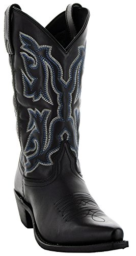 (Soto Boots Women's Snip Toe Leather Cowgirl Boots M3002 (7, Black))