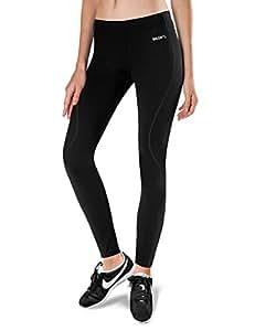 Baleaf Women's Thermal Fleece Running Cycling Tights Black Size XS
