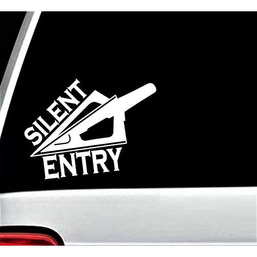 Nice D1062 Silent Entry Deer Hunting Bowhunting Decal for Truck SUV Window Vinyl Sticker supplier