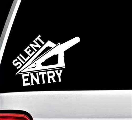 D1062 Silent Entry Deer Hunting Bowhunting Decal for Truck SUV Window Vinyl Sticker