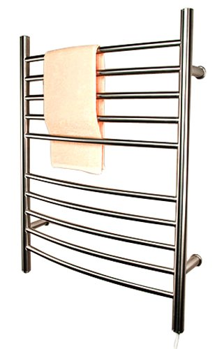 (Amba RWP-CB Radiant Plug-In Curved Towel Warmer, Brushed)