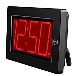 KWANWA Digital LED Wall Clock with 3'' Large Display Battery Operated/Powered Only