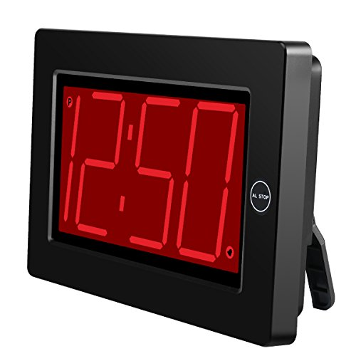 KWANWA Digital LED Wall Clock with 3 Large Display Battery Operated/Powered Only