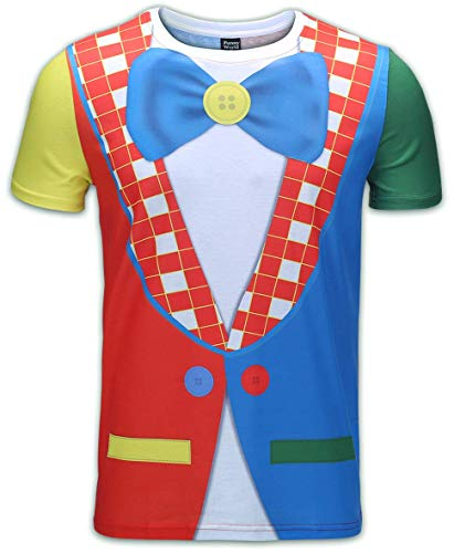 Funny World Men's Clown Costume T-Shirts (XXL) -