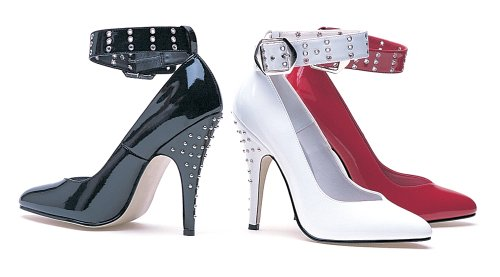 Ellie Shoes Womens 5 Inch Heel Closed Toe Pump With Rivets On Heel Red tt7oUTdu