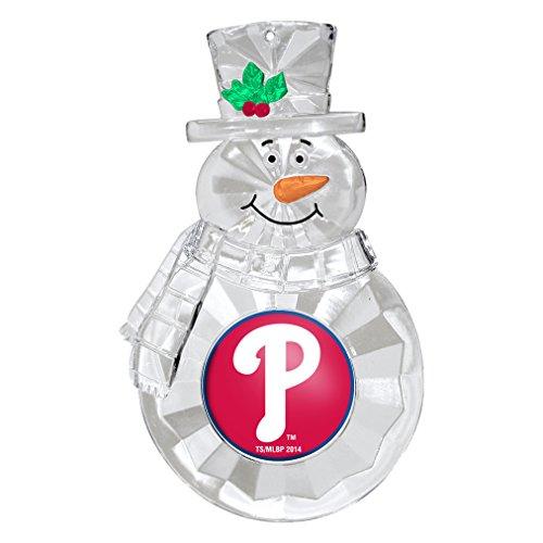 MLB Philadelphia Phillies Traditional Snowman Ornament