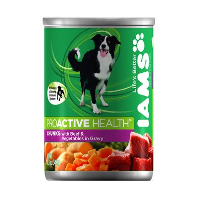 ProActive Health Adult Wet Dog Food with Beef and Vegetables in Gravy (12.3-oz,case of 12)