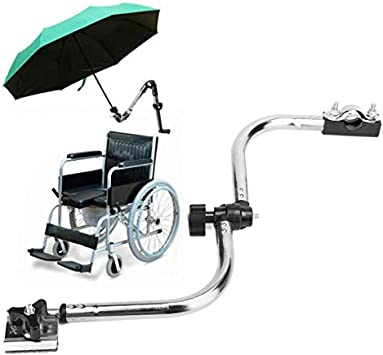 SISHUINIANHUA Caminar con Silla de Ruedas Bastones de Paraguas Plegable sostenedor de la Abrazadera del Conector de Soporte de Ruedas Paraguas de Accesorios