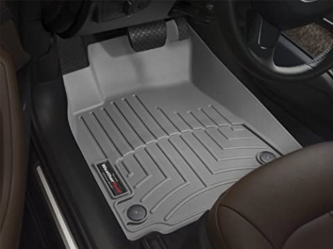 WeatherTech Custom Fit Front FloorLiner for Chrysler Town & Country, Grey - Country Van Carpet
