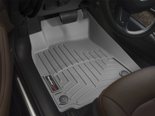 WeatherTech Custom Fit Front FloorLiner for Toyota RAV4, Grey - Front Floor Liner Mats