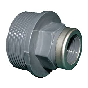 "'Liqui Pipe GmbH PVC Reductor rosca exterior x rosca interior 2""11/2gris rosca exterior x rosca interior, reducción de PVC U"