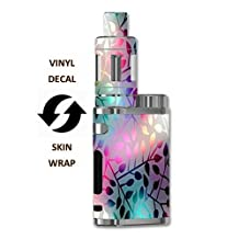 Eleaf iStick Pico 75W TC Vape E-Cig Mod Box Vinyl DECAL STICKER Skin Wrap / > > > Decal Sticker < < < Neon Colorful Leaves Design Print Image