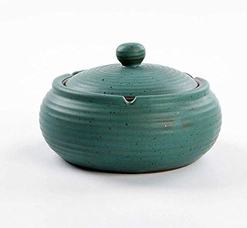 葉巻灰皿, 、サイズ:C、色:C:屋内クリエイティブ多機能家庭用大型灰皿LCNINGYHG(B色)屋外蓋付きの庭セラミックス灰皿 (Color : C, Size : C)