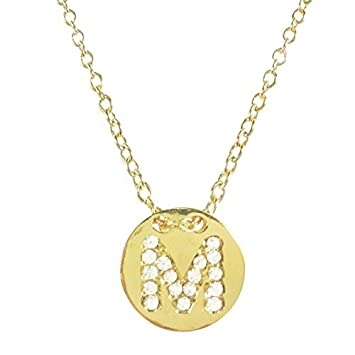 Amazon wrapables gold plated initial letter pendant necklace wrapables gold plated initial letter pendant necklace letter m youme mozeypictures Choice Image