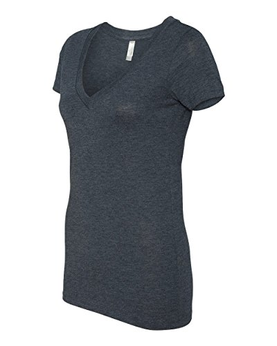 Next Level Apparel 6740 Lady Tri-Blend Deep V Neck T-Shirt - Vintage Navy44; Large