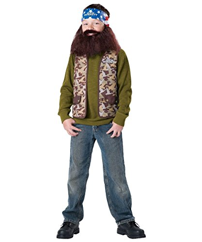 [Duck Dynasty Child Costume Willie (Brown Beard & Bandana) - XS/Small] (Duck Dynasty Costumes For Kids)