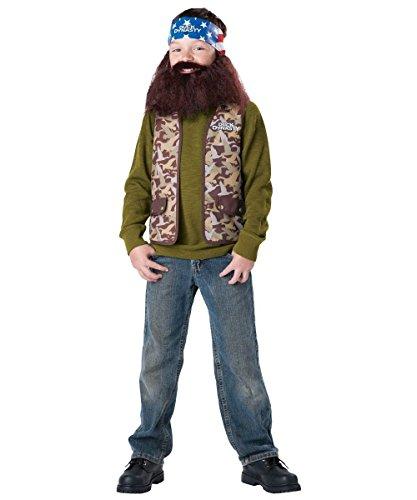 Duck Dynasty Child Costume Willie (Brown Beard & Bandana) - -