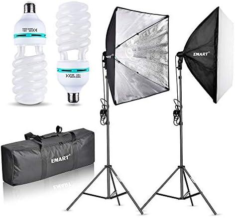 Portable Mini Photo Softbox 242424 Inch 46W 3400LM White Light Photo Lighting Studio Shooting Tent Box Kit