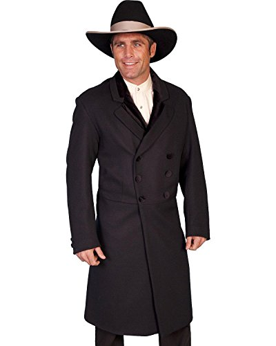 Wahmaker By Scully Men's Double-Breasted Wool Frock Coat Big And Tall Black (Breasted Frock Coat)