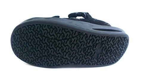 RYN Sandale, Größe 3.5 (36), Antikvelour Schwarz, Abgerundete Sohle zur Entlastung der Wirbelsäule und der Gelenke, Herausnehmbares Fußbett für Eigene Lose Einlagen, Sandals Masaian Incan