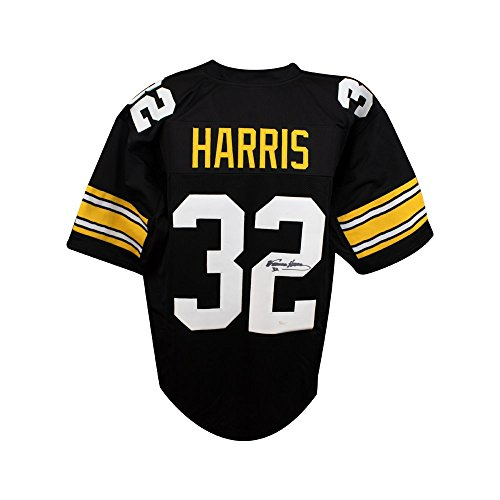 Franco Harris Autographed Pittsburgh Steelers Custom Black Football Jersey - JSA COA