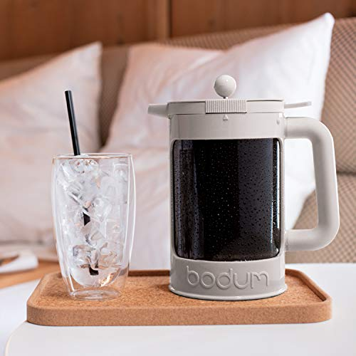 Bodum K11683-913 Bean Cold Brew Coffee Maker Set, 1.5 L/51 oz, White