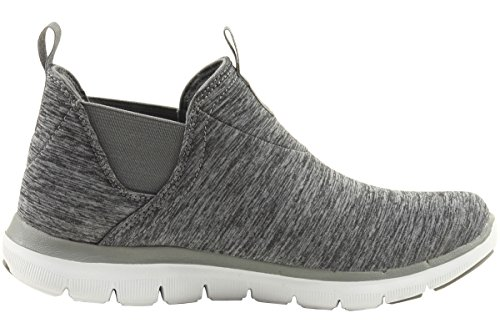 Skechers Flex Appeal 2.0 High Card Mujer US 6.5 Gris Zapatillas