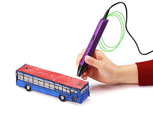 3D Printing Pen Doodle Printer Pen With LED/OLED Screen 4th Generation Newest Technology V4 RP800A Lightweight Portable Compatible with Power Bank + FREE 3 Packs of ABS Filament Colors Total 30Ft
