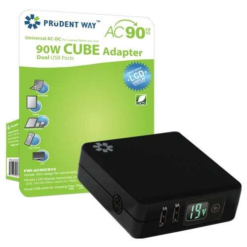 Prudent Way Pwi Ac90cbv2   90W Cube Universal Ac Lcd Display   Black