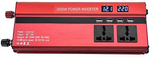 DJNBQ 2000W de Potencia del inversor Solar DC 12V a 220V AC ...