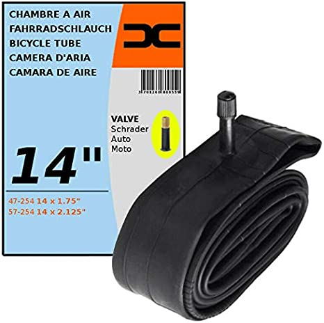 "SCHRADER VALVE TYPE 35mm BICYCLE TIRE 47//57-254 INNER TUBE 14 x 1.75-2.125/"""