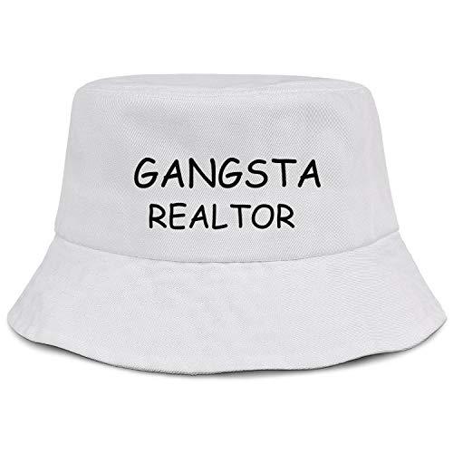 Soft Bucket Hats Cotton Unisex Gangster Realtor Packable Beach Sun Hat Summer Travel Hunting Wide Brim Cute Caps