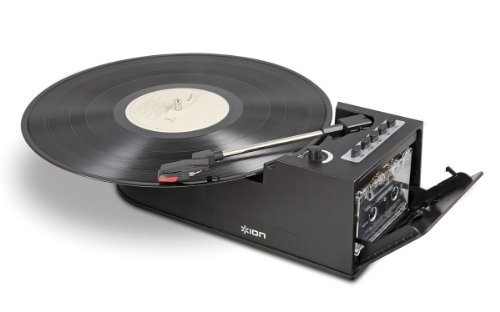 Usb Record Deck - Ion IT34 Duo Deck Ultra-Portable USB Turntable with Cassette Deck