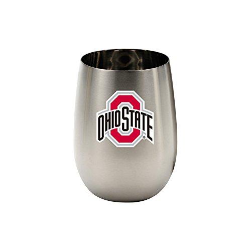 Wine Things Ohio State University Stainless Steel Glass, - Glass Wine State University