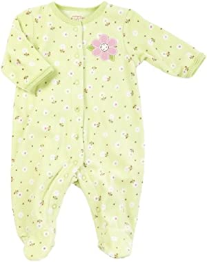 Green Floral Fleece Sleep & Play 6 Months