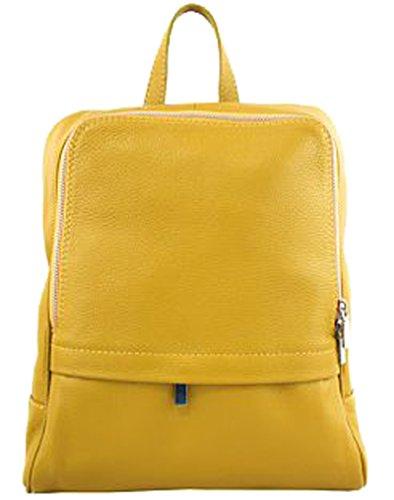 G&G PELLETTERIA - Bolso mochila  de Piel para mujer Bianco