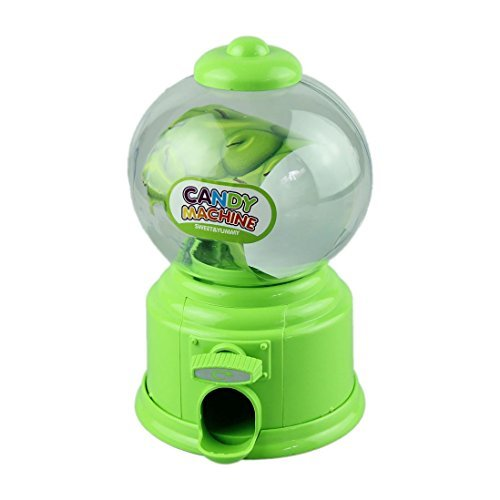 Outtop Candy Machine Piggy Bank Atm Money Box Classic Gumball Machine Bank, Green