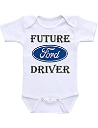 elepbaba Dazzle Labs Future Ford Driver Funny Baby Onesie Bodysuit